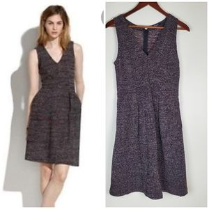 Madewell sleeveless fit and flare dress w pockets